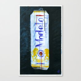 """Modelo Especial (2010), 17"""" x 27"""", acrylic on gesso on chipboard Canvas Print"""