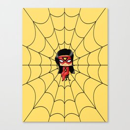 Chibi Spider Woman Canvas Print