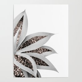 Agave Finesse Glitter Glam #1 #tropical #decor #art #society6 Poster