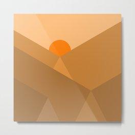 Dusty Sun Metal Print