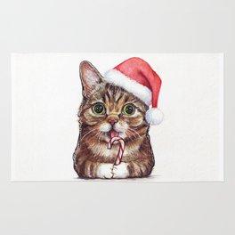 Christmas Animal Santa Cat Rug