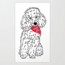 Abolish The Police! Poodle Art Print