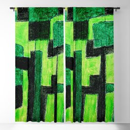 Three Green Puzzle Blackout Curtain