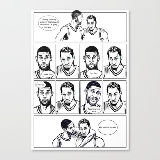 Training camp lessons with Tim Duncan Canvas Print