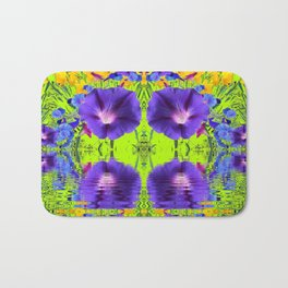 MORNING GLORIES WATER GARDEN REFLECTION Bath Mat