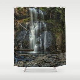 Upper North Falls, Late Summer, Vertical Shower Curtain