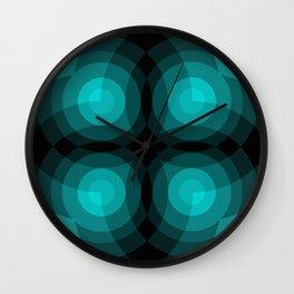 Blue Interference Wall Clock