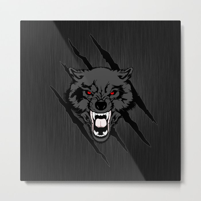 WOLF and ClAW Metal Print
