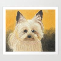 terrier Art Prints featuring Terrier by jeannefischer
