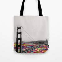 girl Tote Bags featuring It's in the Water by Bianca Green