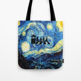 The Doctors Walking Of Starry Night Tote Bag