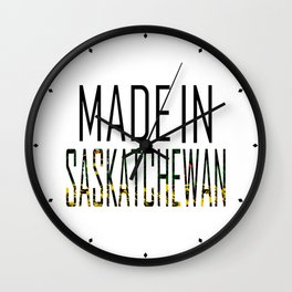 Made In Saskatchewan Wall Clock