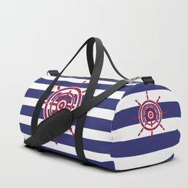 AFE Nautical Red Helm Wheel Duffle Bag