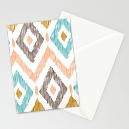 Sketchy Diamond IKAT Stationery Cards