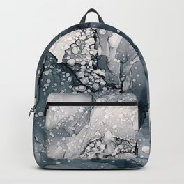 Icy Payne's Grey Abstract Bubble / Snow Painting Backpack