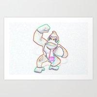 donkey kong Art Prints featuring Donkey Kong by Beastie Toyz