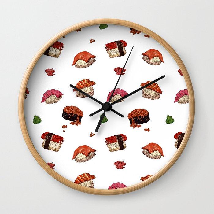 Sushi Galore Wall Clock