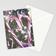 Candy Cane Heart  Stationery Cards