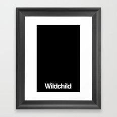 wildchild black Framed Art Print