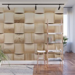Background of wooden pieces Wall Mural