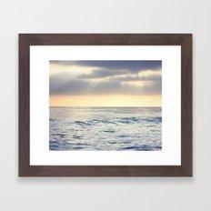 California Sunset over the Pacific Ocean Framed Art Print