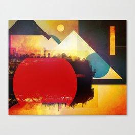 Glitch City Canvas Print