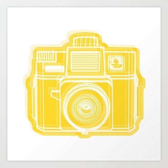 I Still Shoot Film Holga Logo - Sunshine Yellow Art Print