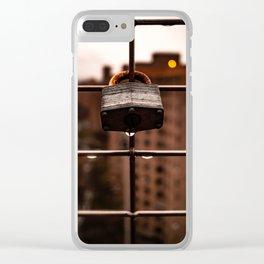 Lock Up Rain Drop Clear iPhone Case