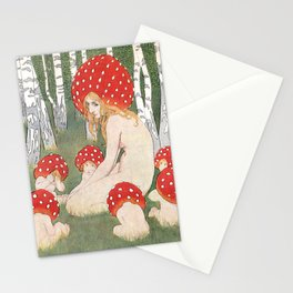 Mother Mushroom With Her Children By Edward Okun Stationery Cards