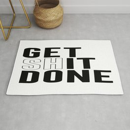 Get Shit Done, Wall Art Rug