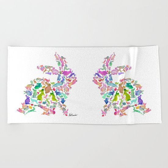 Soul Bunny - Spring Time Beach Towel