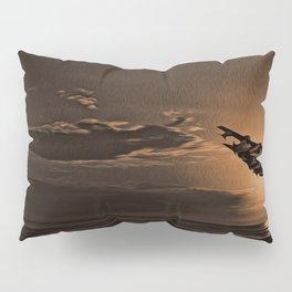 Tornado at Sunset (Digital Painting) Pillow Sham