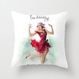 dancing ballerina3 Throw Pillow