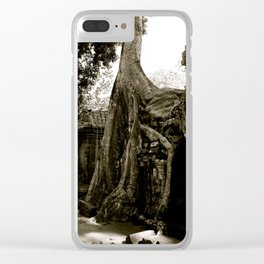 Ta Prohm (aka the Tomb Raider Temple) Clear iPhone Case