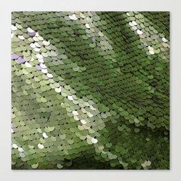 Green spangle Canvas Print