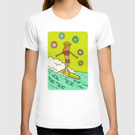 lady slider cross step // surfy birdy T-shirt