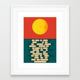 Sun Over The Sea - Afternoon Framed Art Print