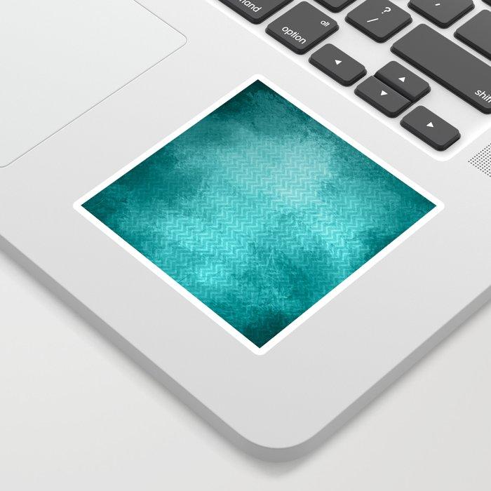 Textured limpet blue chevron pattern Sticker