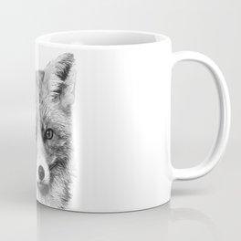 Black and White Fox Coffee Mug