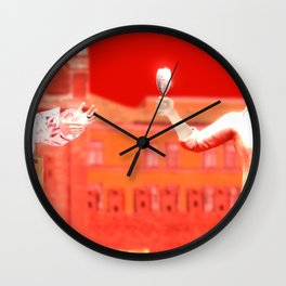 SquaRed: No pain No Gain Wall Clock