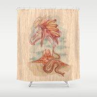 colorado Shower Curtains featuring COLORADO by TOXIC RETRO