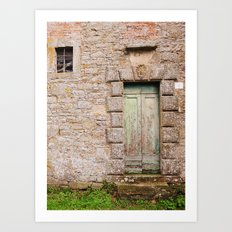 Green Door - Cortona, Italy Art Print