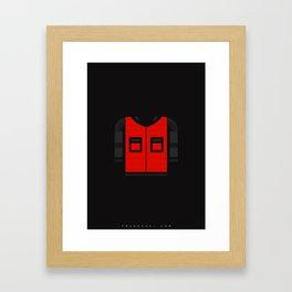 Marty McFly's jacket Framed Art Print
