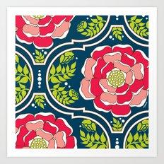 Yogita : India Floral Art Print