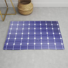 In charge / 3D render of solar panel texture Rug