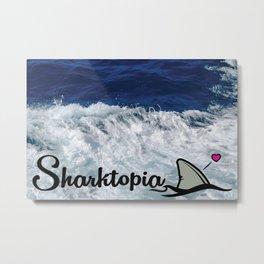 Official Sharktopia Logo Metal Print