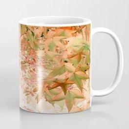 Sweetgum Leaves -Version Peach Coffee Mug