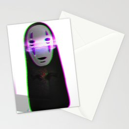 Glitched No Face Stationery Cards