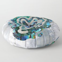 Abstract Ripple  Abalone and Mother of pearl Floor Pillow