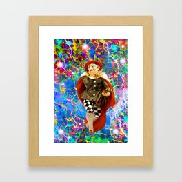 Clown Troubadour Framed Art Print